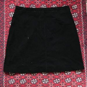 The Limited velvet skirt
